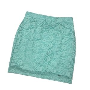 Hollister Lace Mint Green Mini Skirt